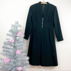 Vtg 60s Jeremy Alan Phillips Rhinestone Midi Dress